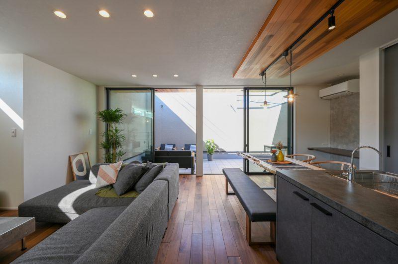 2階リビングとリッチな広々バルコニーの家|岡山・倉敷・福山の注文住宅ならFORT建築設計